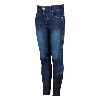 Reithose LouLou Rayleigh Full Grip, denim