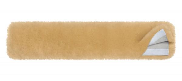 Mattes Lammfell Sattelgurtbezug mit Klettverschluss
