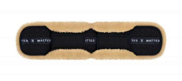 Mattes Kurzgurtbezug gerade mit Schnallenunterlage und Ausschnitt für Hilfszügel